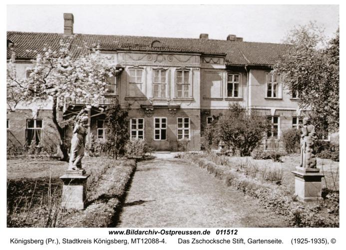 Königsberg, Das Zschocksche Stift, Gartenseite