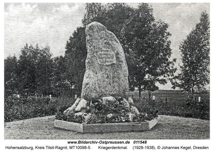 Hohensalzburg, Kriegerdenkmal