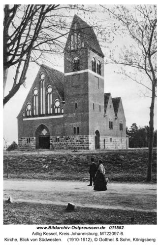 Adlig Kessel, Kirche, Blick von Südwesten