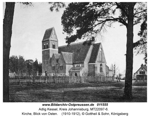 Adlig Kessel, Kirche, Blick von Osten