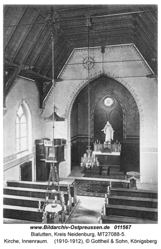 Bialutten, Kirche, Innenraum