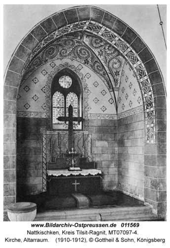 Nattkischken, Kirche, Altarraum
