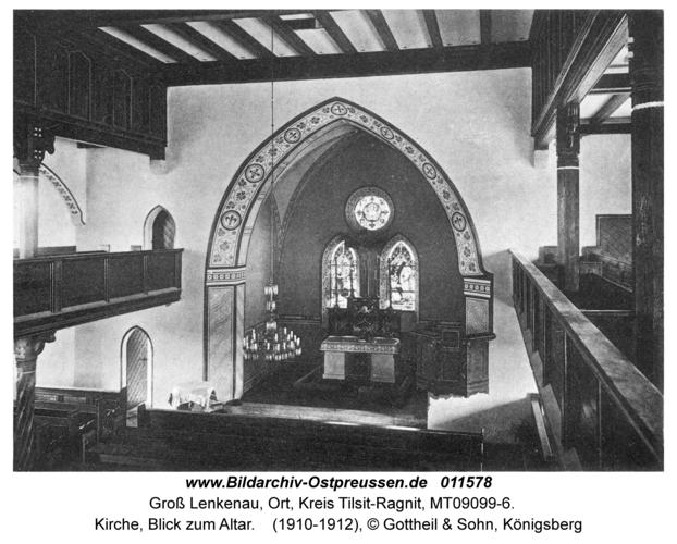Groß Lenkenau, Kirche, Blick zum Altar
