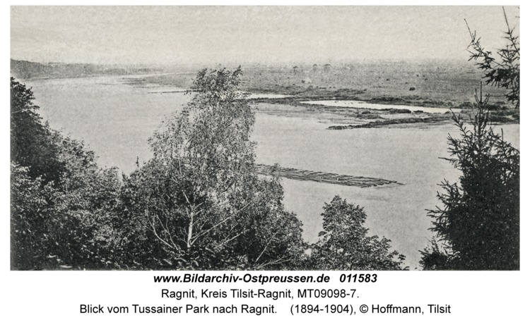 Ragnit, Blick vom Tussainer Park nach Ragnit