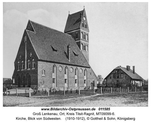 Groß Lenkenau, Kirche, Blick von Südwesten
