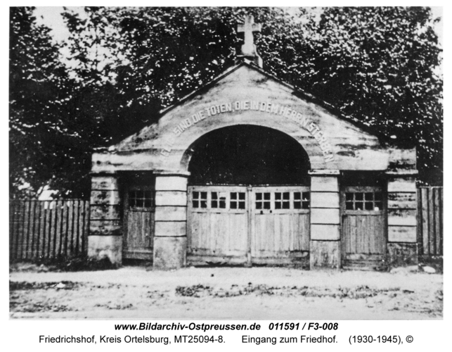 Friedrichshof, Eingang zum Friedhof