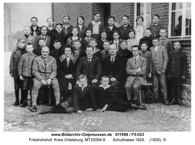 Friedrichshof, Schulklasse 1929