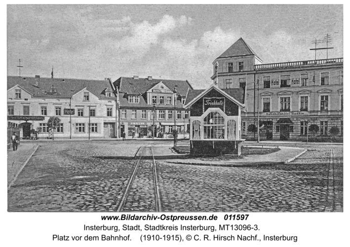 Insterburg, Platz vor dem Bahnhof