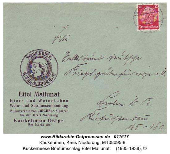 Kuckerneese Briefumschlag Eitel Mallunat