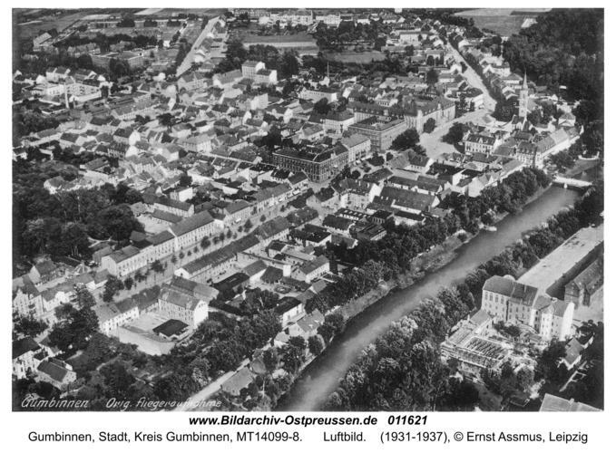 Gumbinnen, Luftbild