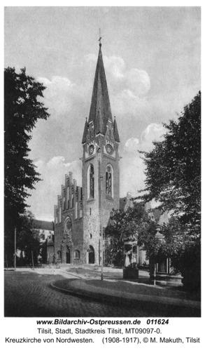 Tilsit, Kreuzkirche von Nordwesten
