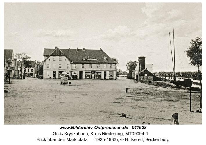 Seckenburg, Blick über den Marktplatz