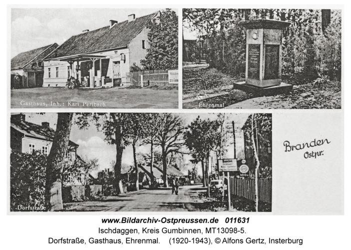 Branden, Dorfstraße, Gasthaus, Ehrenmal