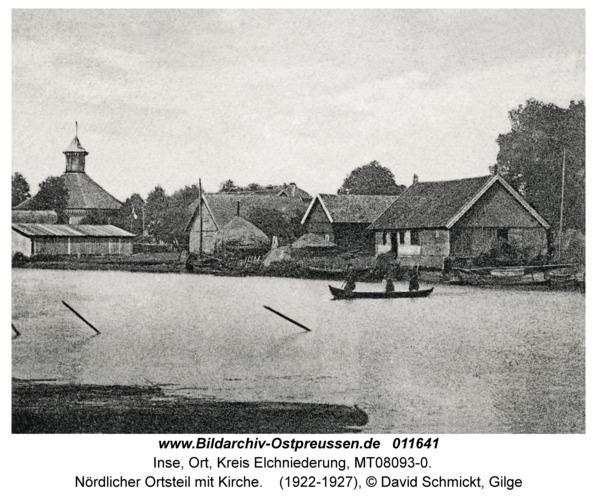 Inse, Nördlicher Ortsteil mit Kirche