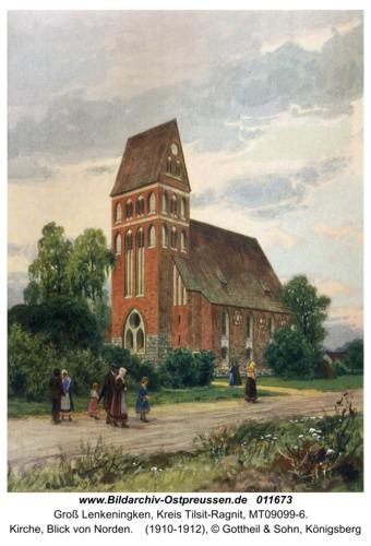 Groß Lenkenau, Kirche, Blick von Norden
