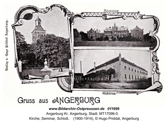 Angerburg, Kirche, Seminar, Schloß