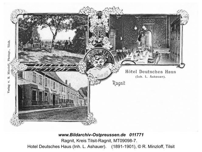 Ragnit, Hotel Deutsches Haus (Inh. L. Ashauer)