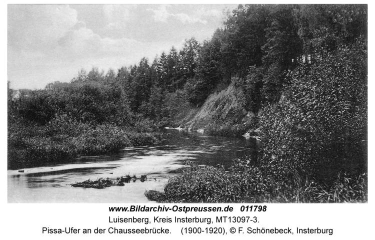 Luisenberg Kr. Insterburg, Pissa-Ufer an der Chausseebrücke