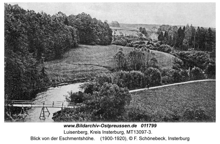 Luisenberg Kr. Insterburg, Blick von der Eschmentshöhe