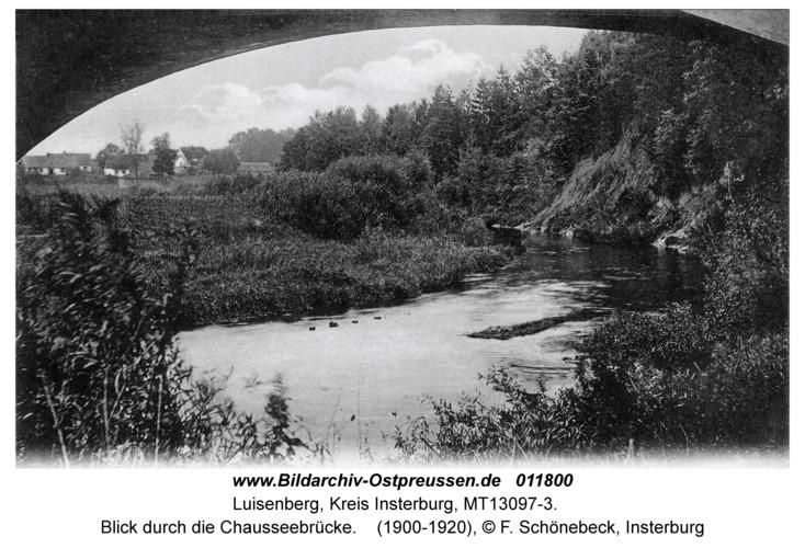 Luisenberg Kr. Insterburg, Blick durch die Chausseebrücke