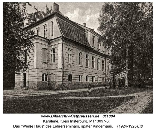 """Luisenberg Kr. Insterburg, Das """"Weiße Haus"""" des Lehrerseminars, später Kinderhaus"""