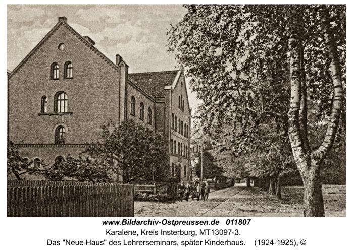 """Luisenberg Kr. Insterburg, Das """"Neue Haus"""" des Lehrerseminars, später Kinderhaus"""