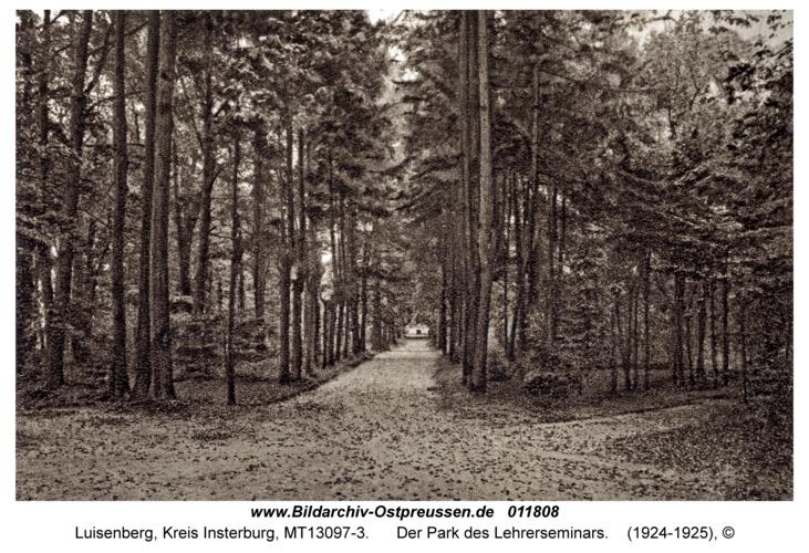 Luisenberg Kr. Insterburg, Der Park des Lehrerseminars