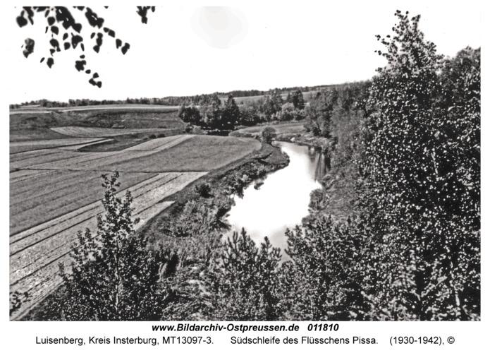 Luisenberg Kr. Insterburg, Südschleife des Flüsschens Pissa