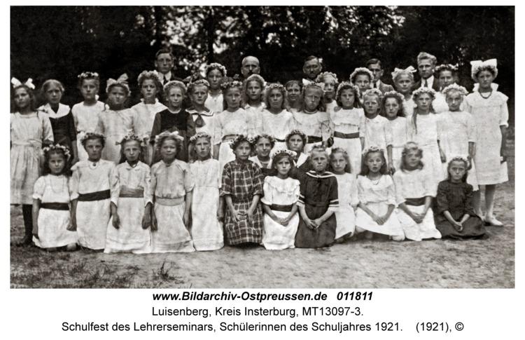 Luisenberg Kr. Insterburg, Schulfest des Lehrerseminars, Schülerinnen des Schuljahres 1921
