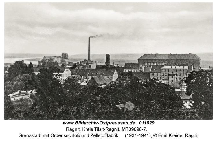 Ragnit, Grenzstadt mit Ordensschloss und Zellstofffabrik
