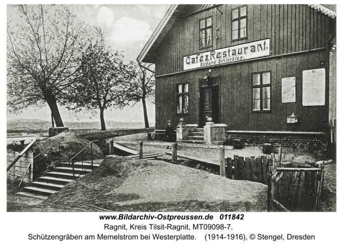 Ragnit, Schützengräben am Memelstrom bei Westerplatte
