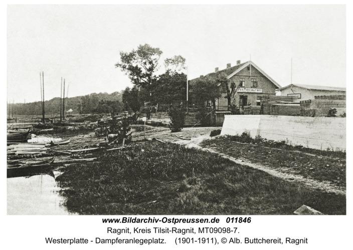 Ragnit, Westerplatte - Dampferanlegeplatz