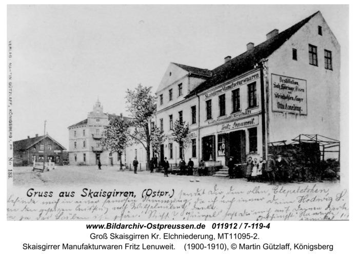 Kreuzingen, Skaisgirrer Manufakturwaren Fritz Lenuweit