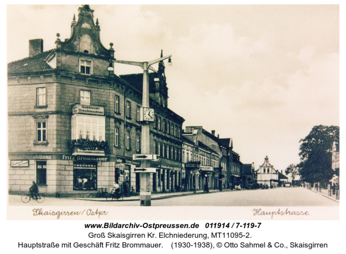 Kreuzingen, Hauptstraße mit Geschäft Fritz Brommauer