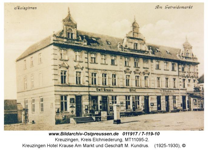Kreuzingen Hotel Krause Am Markt und Geschäft M. Kundrus