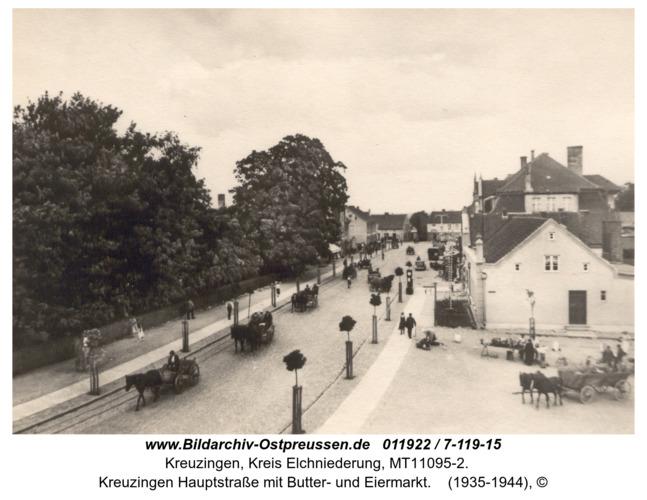 Kreuzingen Hauptstraße mit Butter- und Eiermarkt