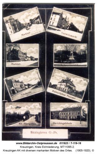 Kreuzingen AK mit diversen markanten Motiven des Ortes