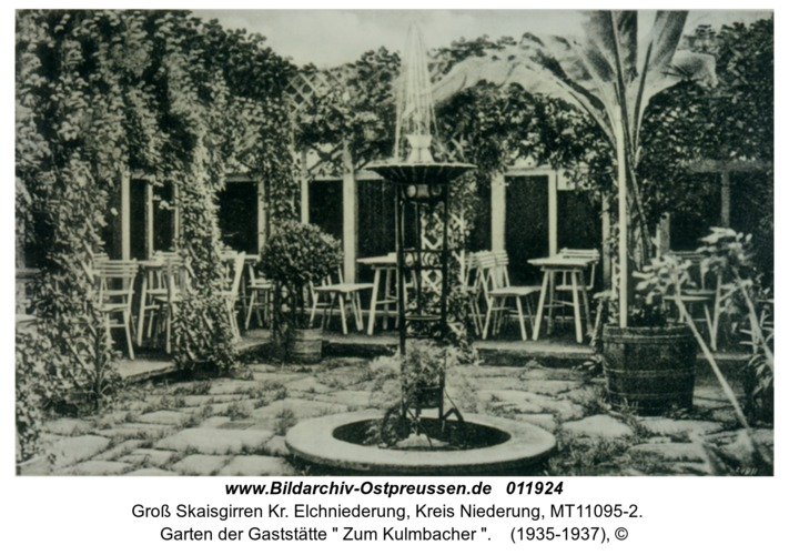"""Groß Skaisgirren, Garten der Gaststätte """" Zum Kulmbacher """""""