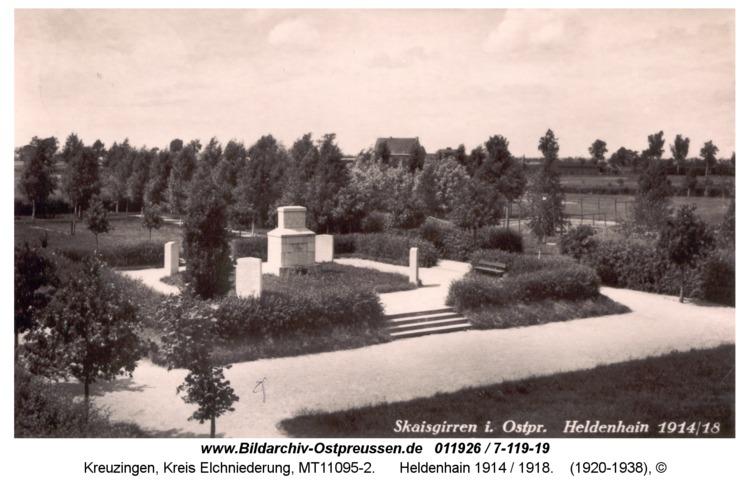 Kreuzingen, Heldenhain 1914 / 1918