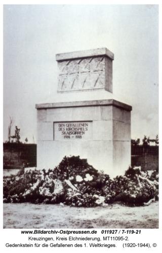 Kreuzingen, Gedenkstein für die Gefallenen des 1. Weltkrieges
