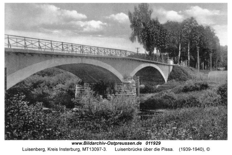 Luisenberg Kr. Insterburg, Luisenbrücke über die Pissa