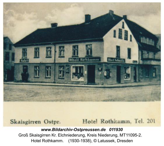 Groß Skaisgirren, Hotel Rothkamm
