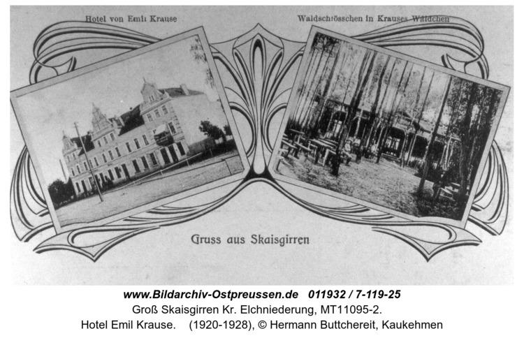 Kreuzingen, Hotel Emil Krause