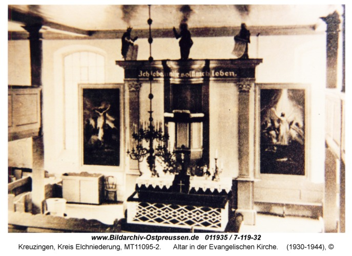 Kreuzingen, Altar in der Evangelischen Kirche