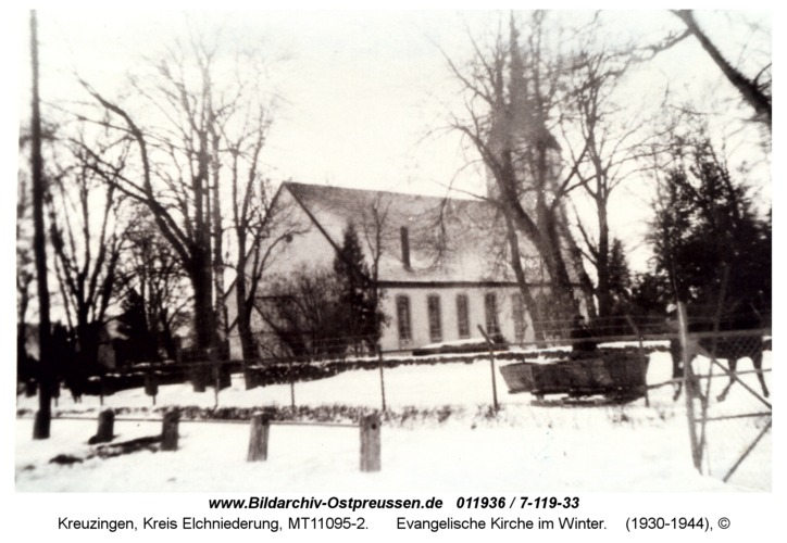 Kreuzingen, Evangelische Kirche im Winter