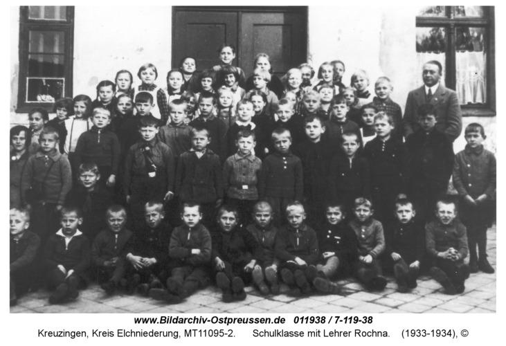 Kreuzingen, Schulklasse mit Lehrer Rochna