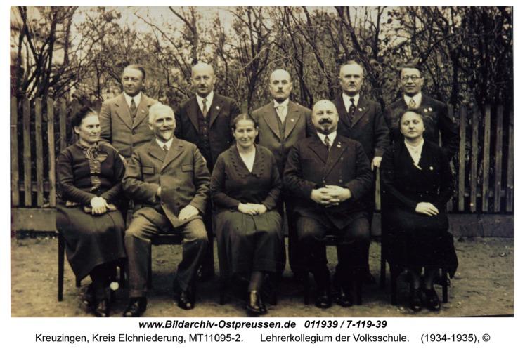 Kreuzingen, Lehrerkollegium der Volksschule