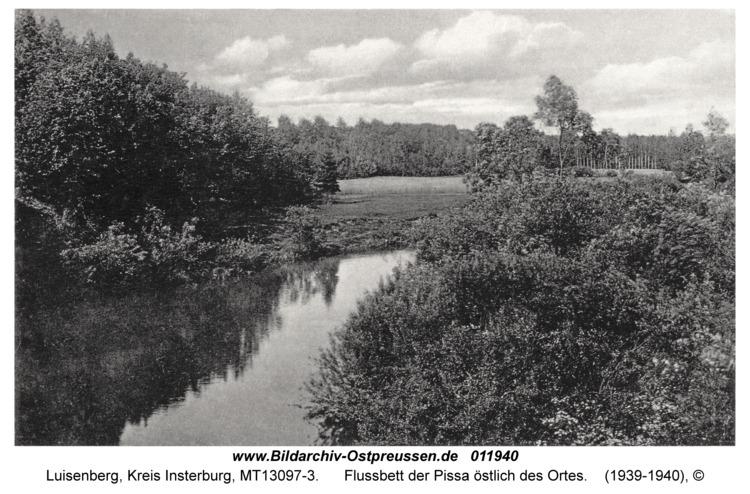 Luisenberg Kr. Insterburg, Flussbett der Pissa östlich des Ortes