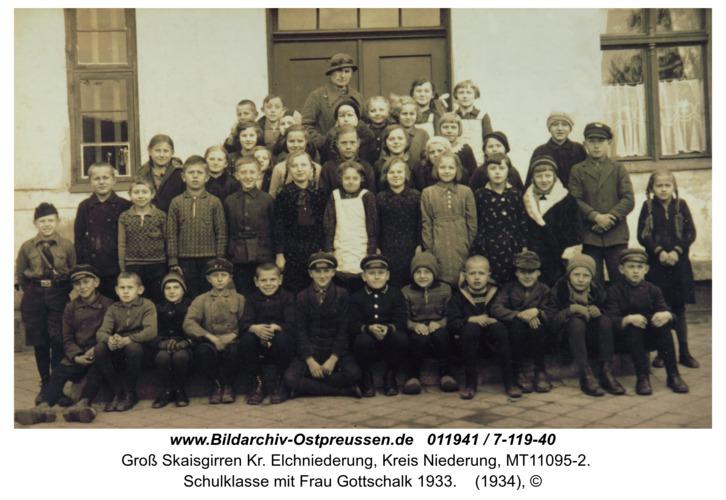Kreuzingen, Schulklasse mit Frau Gottschalk 1933