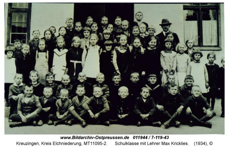 Kreuzingen, Schulklasse mit Lehrer Max Kricklies